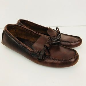 Polo Sport Shoes 9 B Brown Leather Moccasin